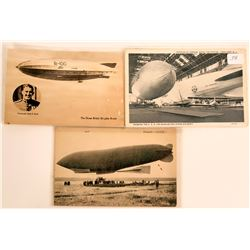 Three International Dirigible Airships Postcards  (116351)