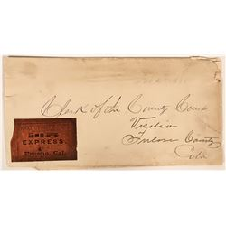 Fresno County Cover with Wells Fargo Label  (116231)