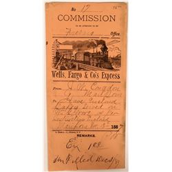 1887 Wells Fargo Fresno Commission Cover  (116230)