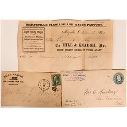Two Marysville Covers (one w/ Advertising Billhead)  (112650)