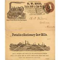San Francisco Timber / Saw Mill Advertising Cover  (113015)