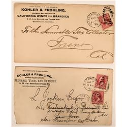 Two Kohler & Frohling Wine & Brandy Covers  (115718)