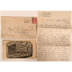 Two Russ House  Advertising Covers & Letter  (116215)