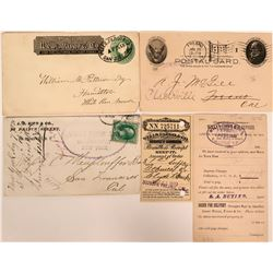 Wells Fargo Group: Covers, Postcard & Money Order Receipt  (115716)