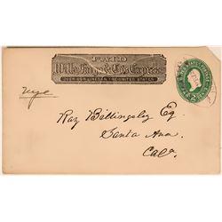 Rare Wells Fargo Tatham Co. Cover  (116074)