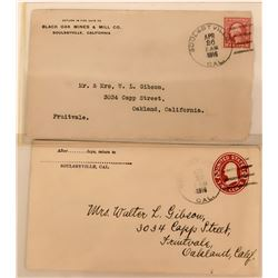 Two Postal Covers from Soulsbyville, California  (115197)