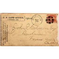 US Land Office Cover with Dept. of the Interior Stamp  (116368)