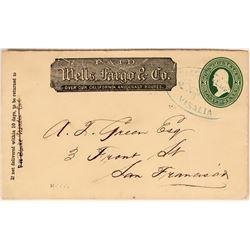 Wells Fargo Visalia Postmarked Cover  (116234)
