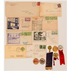 Assorted California Railway PO Golden Gate Bridge Covers Ribbons  (117251)