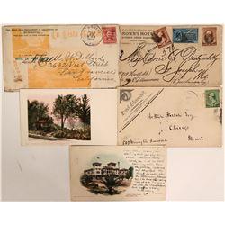Southern California Advertising Covers & Postcards (Monrovia, Pomona, Redlands)  (112657)