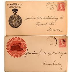 Two Pictorial Watch Advertising Covers  (116374)