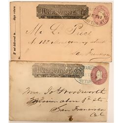 Two Dayton, Nevada Territory Postmarked Wells Fargo Covers  (116239)