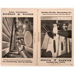 Two Alaska-Pacific Steamship Ad Postcards   (116114)