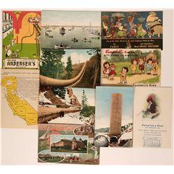Ten Colorful Advertisement Postcards  (116112)