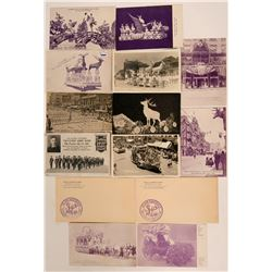 Los Angeles Elks Club Postcards & Cover  (115548)