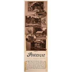 Rare Pinecrest, California Folding Postcard  (113093)