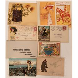 Portola Festival, 1909 Postcards & Covers, California  (111545)