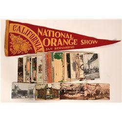 National Orange Show Postcards & Pennant  (115560)