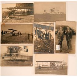 Lot of 7 Glenn Curtiss Aviation RPC Pioneer Postcards  (116596)