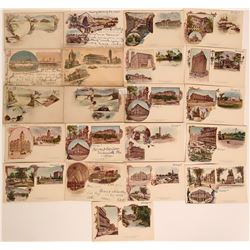 Pioneer Litho Postcards Various Cities  (116360)