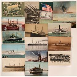 SF Bay Area Steamer Postcards  (113122)