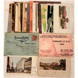 California Postcard Group Plus Arrowhead, Cal. Booklet with Real Photos, 1910 (24)  (111546)