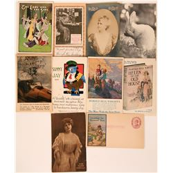 Nine Older Advertising Postcards  (116113)