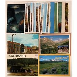 Large Group of Colorado Postcards (19) Includes Royal Gorge Set  (110343)