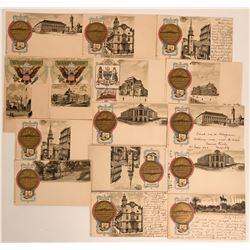 Tuck Heraldic Pioneer Postcards c. 1898  (116384)