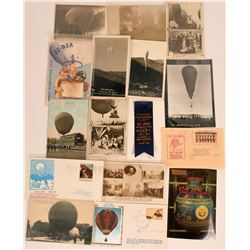 International Commemorative Balloon Flight Ribbon, Postcards and Covers  (116352)