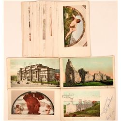 Set of 15 Pioneer Postcards from Detroit Photographic Co. Date to 1900  (111565)