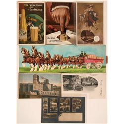 Seven Beer Advertisement Postcards  (116105)