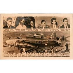 Howard Hughes' Around the World flight Postcard  (116759)
