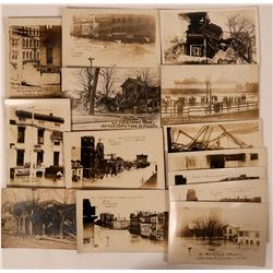 Set of 14 Real Photo Postcards of Dayton, Ohio Flood in 1913  (110345)