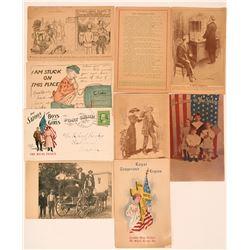 Nine Temperance Pioneer Postcards (Anti-Liquor) (116383)
