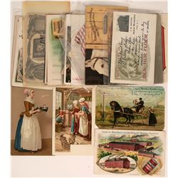 Confectionery Advertising Postcards  (116422)