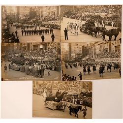 Founder's Day, Military Week, Philadelphia Real Photo Postcards (5)  (110340)