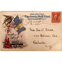Philadelphia's Peace Jubilee Advertising Pioneer Postcard   (116372)