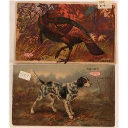 Two Dupont Gun Powder Advertising Postcards  (116117)