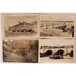 Set of 4 Washington State Real Photo Postcards  (110352)