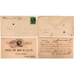Two Washington Territory Pieces: Cover and Land Agent Postal Card  (115710)