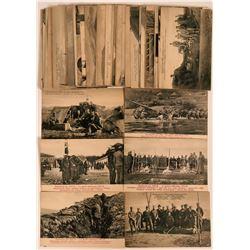 Balkan War 1912 Pioneer Postcards RPC Lot of 57  (116388)