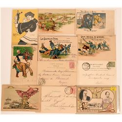 Dozen Late 1800's Early 1900's Postcards China Boxer Rebellion  (116381)