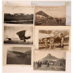 Early French Bi-planes RPC Pioneer Postcards  (116616)