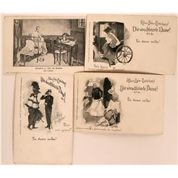 Four Dreyfus Affair Litho Postcards  (116370)