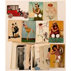 Large Group of European Risque Pinup Postcards (35)  (110336)