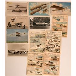 Lot of 11 Worldwide Experimental Airplane Pioneer Postcards  (116592)