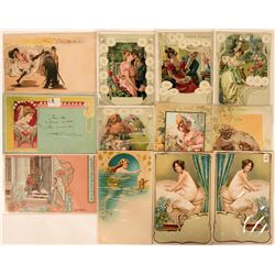 Early German Art Deco Postcards C. 1900 Includes Four By M. Schubert (12)  (111577)
