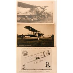 Three Pioneer Postcards RPCs German Early Bi-planes  (116611)