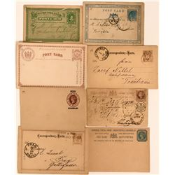 Seven Early Foreign Imprinted Postcards and Cover  (116378)